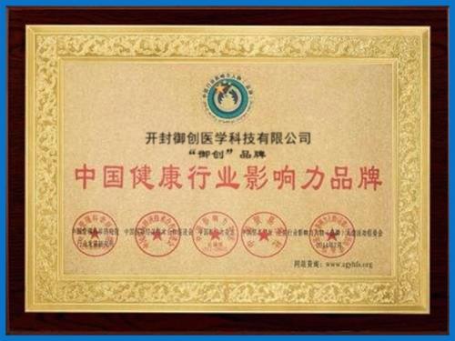 中国健康行业影响力品牌